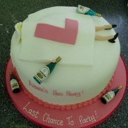 L plate hen night cake
