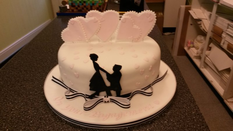 Anniversary & Engagement Cakes - Cake Toppers Redcar