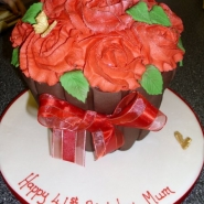 roses cup cake