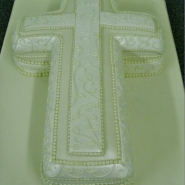 silver lace cross