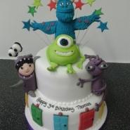 monsters inc. 2 tier cake
